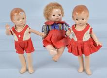 Lot of 3 Composition Dolls, Effanbee & More