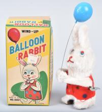 JAPAN Windup BALLOON RABBIT w/ BOX