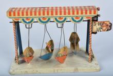 GERMAN Tin Windup SWINGING BOATS