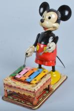 LINEMAR Tin Windup MICKEY MPOUSE XYLOPHONE