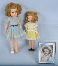 Lot of 2 IDEAL SHIRLEY TEMPLE DOLLS & PICTURE