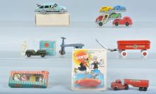 Lot of VINTAGE TOY VEHICLES & MORE