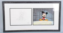 MICKEY MOUSE ANIMATION CELL & DRAWING