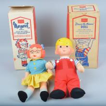 1967 DENNIS THE MENACE & MARGARET DOLLS, BOXED
