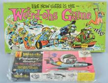 LOT OF 2 WEIRD-OHS, GAME AND MODEL KIT, VINTAGE