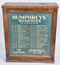 HUMPHREY'S REMEDIES STORE DISPLAY CABINET