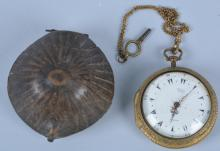 George Prior 18th Century Pocket Watch with Case