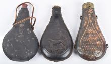 LOT OF 2 FLASKS and SHOT POUCH