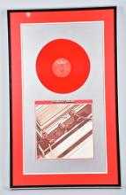 1970s BEATLES RED,WHITE, & BLUE ALBUMS FRAMED SET