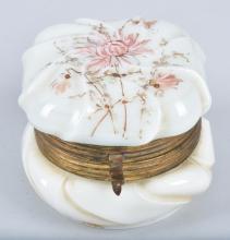 WAVE CREST HINGED DRESSER JAR