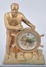 FDR MAN OF THE HOUR METAL CLOCK