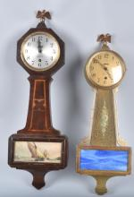 LOT OF 2 VINTAGE SESSIONS BANJO CLOCKS
