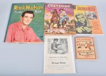 Lot- VINTAGE BOOKS, ROCK HUDSON, BONANZA, & MORE