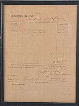 1864 CONFEDERATE QUARTERMASTER DOCUMENT