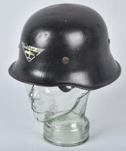 WWII GERMAN BUCKER FACTORY WORKERS HELMET