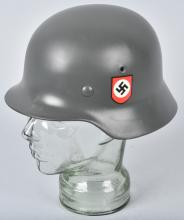 NAZI GERMAN HELMET, MARKED ET62