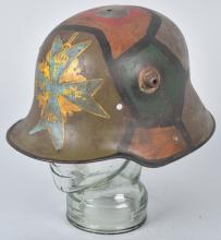 WWI GERMAN STALHELM M-16 HELMET, CAMOUFLAGED