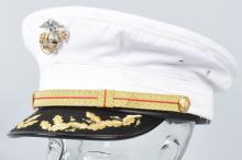 U.S. MARINE CORPS  DRESS BLUES OFFICER'S HAT