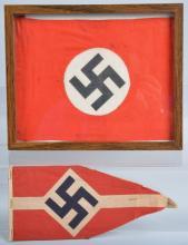 Lot of 2 WW2 Nazi Germany Flags