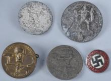 Lot of 5 WW2 Nazi Germany Badges