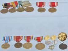 Lot of US Medals and Insignia WW2 to Korea