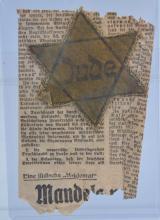 WW2 Nazi Germany Jewish Star Patch