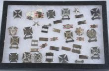 Large Lot of US Sterling Silver Military Badges