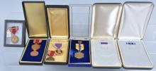 Lot of US Military Medals & Boxes