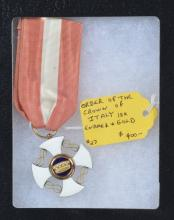 Order of the Crown of Italy Medal, Gold & Enamel