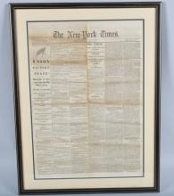April 10th 1865 New York Times UNION VICTORY