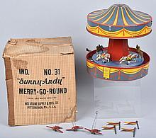 WOLVERINE Tin Windup MERRY GO ROUND w/BOX