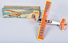 JAPAN Tin Friction OLD TIMER AIRPLANE w/ BOX