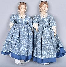 Lot of 2 BISQUE LITTLE WOMAN