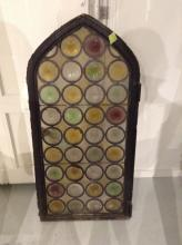 Bottle bottom stained glass window