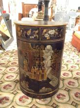 Chinoiserie demi-lune side cabinet