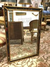 La Barge style chinoiserie painted mirror