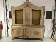 Italian Baroque style paint decorated cabinet