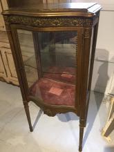 Antique French style giltwood vitrine