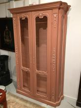 Isabel O'Neil style paint decorated bookcase