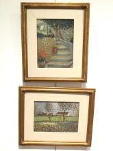 Jan Bonal, (2) oils on canvas