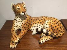 Large Mid-Century Italian ceramic cheetah