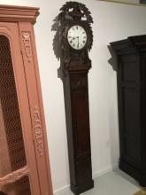 19th c. French Provincial tall case clock