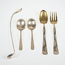 Group (5) American sterling silver serving pieces