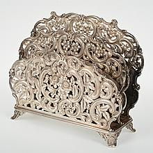 Nice Howard & Co. sterling silver letter rack