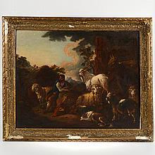 Attrib. to Philipp Peter Roos (1655-1706, German), painting