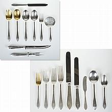 Tiffany & Co. Faneuil pattern silver flatware set