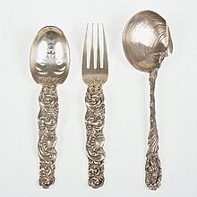 (3) Whimsical sterling silver flatware pieces