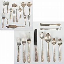 S. Kirk & Son Repousse pattern silver flatware set