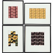 Liz Rideal (b. 1954, British), (4) photo-booth strips