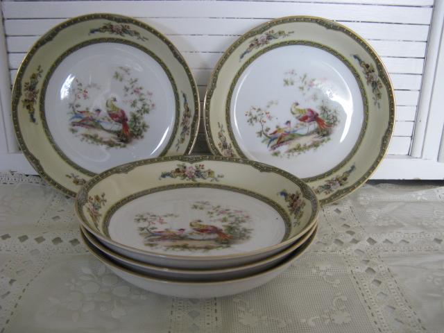 """Noritake China Windsor Pattern 5 Coupe soup bowls 7/1/2"""""""